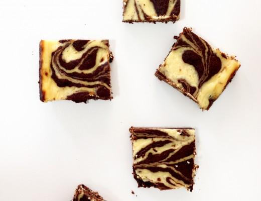 Brownie com Cheesecake de Laranja